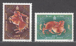 Mongolia - Correo 1999 Yvert 2263/4 ** Mnh Fauna - Mongolie