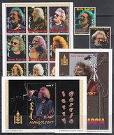 Mongolia - Correo 1999 Yvert 2287/97+Hb 261/2 ** Mnh   Jerry Garcia Cantante - Mongolie