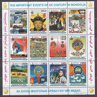 Mongolia - Correo 2000 Yvert 2496/505 ** Mnh  Acontecimientos - Mongolie