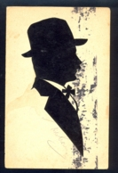 Image Of Man With Hat / Postcard Circulated - Silhouettes