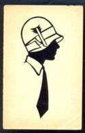 Image Of Woman With Hat / Postcard Not Circulated - Silhouettes