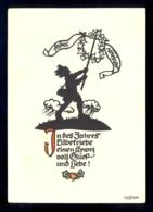 In Des Jahres .... / Georg Plischke / Postcard Not Circulated - Silhouettes