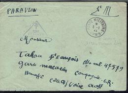 Fr - Levant - Env. F.M. Pour Bouaké - Cachet Poste Militaire B.P.M.5 Du 3-3-44 - Censure Triangulaire Croix De Lorraine. - Storia Postale