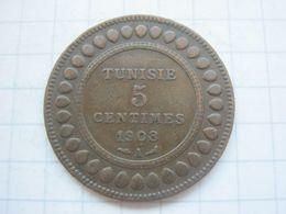 Tunisia , 5 Centimes 1908 - Tunisia