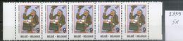BELGIE * Nr 2339 * 5 Stuks - 45 Frank/franc * Postfris Xx - Belgium