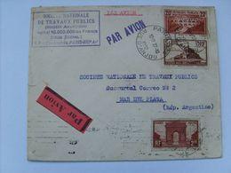 262A Et Divers C.a.D Paris 27/10/32 Sur Env. Pour Mar Del Plata (Argentine ) - Cachet S.N.T.P Et Flamme Au Dos !! - France