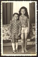 Children Boy And Girl Portrait Old Photo 9x14 Cm 30869 - Persone Anonimi