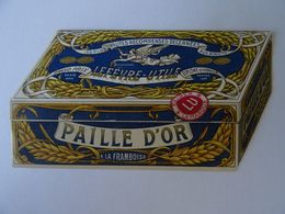 CHROMO LEFEVRE- UTILE . LA PAILLE D'OR 1900. CALENDRIER 1909. ETAT NEUF. - Lu