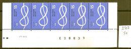 BELGIE * Nr 2507 * 5 Stuks - 75 Frank/franc * Postfris Xx - Belgium