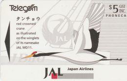 New Zealand - JAL - Crane - NZ-A-040 - New Zealand