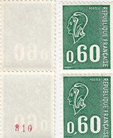 FRANCE** MARIANNE DE BEQUET.  1815b NUMERO ROUGE  31 1 19 - 1971-76 Maríanne De Béquet