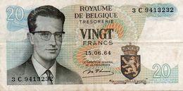 BELGIO-20 FRANCS-1964  P-138a1 - [ 6] Treasury