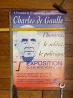Affiche 25 Anniversaire De La Disparition Du Général De Gaulle à Enghien Les Bains - Posters