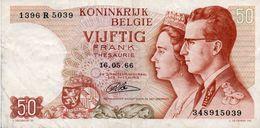 BELGIO-50 FRANCS-1966  P-139a4 - [ 6] Treasury