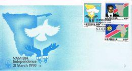 36847. Carta WINDHOEK (namibia) 1990. Independence. President Nujoma - Namibie (1990- ...)