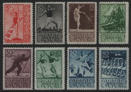 Russia / Sowjetunion 1938 - Mi-Nr. 657-664 ** - MNH - Sport - Nuevos