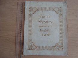 CAHIER D'ECRITURE ANCIEN AVEC LITHOGRAPHIE DE Mme TIGET ORLEANS - Protège-cahiers
