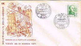 36848. Carta Exposicion VIGO (Pontevedra) 1971. Derribo Puerta De Gamboa - 1931-Hoy: 2ª República - ... Juan Carlos I