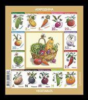 Belarus 2020 Mih. 1351/64 Definitive Issue. Flora. Vegetables (M/S) MNH ** - Belarus