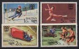 JO76-H33 - BHOUTAN Série De 4 Val. Neufs** Jeux Olympiques Innsbruck 1976 - Bhutan