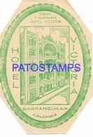 136415 COLOMBIA BARRANQUILLA PUBLICITY HOTEL VICTORIA LUGGAGE NO POSTCARD - Etiquettes D'hotels