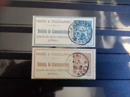 FRANCE.1900 à 1906 . Téléphone N°24 Et 25. Oblitérés.  Côte Yvert 18 € - Telegramas Y Teléfonos