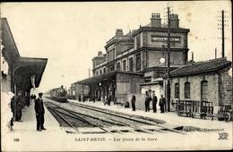 Cp Saint Denis Seine Saint Denis, Les Quais De La Gare, Bahnhof, Dampflok - France