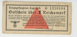 BILLETS - ALLEMAGNE - CAMP DE PRISONNIERS - Kriegsgefangenen Lager - GUTSCHEIN ÜBER 1 REICHSMARK - [ 4] 1933-1945 : Troisième Reich