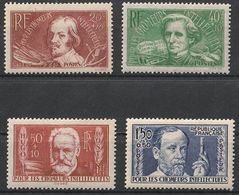 * Timbres France N° Yvert 330/333 Série Chomeurs Intellectuels  De 1936 Neufs * Cote 34 € - Unused Stamps