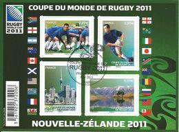 Coupe Du Monde De Rugby 2011 - Oblitérés
