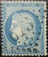 N°60A Cérès 25c Bleu. Variété (voir Boule Sous Le Nez) Oblitéré Losange G.C. N°673 Bulgnéville - 1871-1875 Ceres