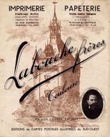 19183-J-  PUBLICITE SUR SUPPORT STYLE  BUVARD 21CMX26.5CM LABOUCHE FRERES IMPRIMERIE CPA TOULOUSE - Publicités