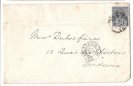 LETTRE DE LONDRE   AMBULANT CALAIS A PARIS.. 1894..POUR BORDEAUX. N° 95.  TBE ..SCAN - Storia Postale