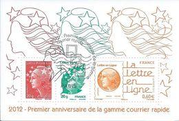 1er Anniversaire De La Gamme Courrier Rapide 2012 - Oblitérés