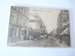 A Vendre Belle Carte D'Enghein Les Bains La Grande Rue. Démenageurs  Avec Attelage De Chevaux Petit Prix. - Enghien Les Bains