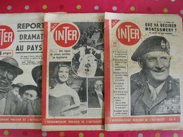 "3 Hebdo ""Inter"" De 1948. Humour Actualités Pin-up. Montgomery Gail Russel 2 Cv Citroen Cerdan Salon De L'auto - Desde 1950"