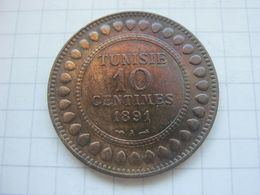 Tunisia , 10 Centimes 1891 - Tunisia