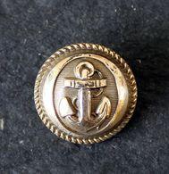 Bouton Laiton, Marine Marqué R.Gutli 7 Rue Thorel Paris 22mm De Diamètre - Boutons