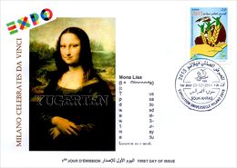 DZ 2014 - FDC - World Expo Milan 2015 Celebrates Da Vinci - De Vinci - Tintin - Mona Lisa - Joconde - Gioconda - 2015 – Milano (Italia)