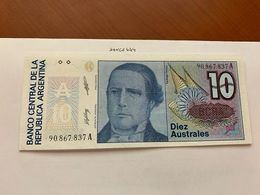 Argentina 10 Australes Uncirc. Banknotes 1985 - Argentine
