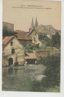 CHARTRES - L'Eure à La Porte Guillaume Et Les Flèches De La Cathédrale - Chartres