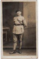 V665Chj   Carte Photo Soldat Caporal Orset Au Poste De Tath Prés Dusseldorf En 1923 - Uniformen