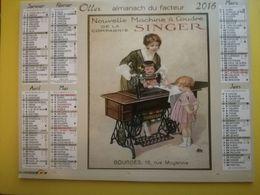 CALENDRIER ALMANACH POSTAL 2016  AFFICHES RETRO - Calendars