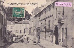78-MONTESSON- Rue De La MAIRIE-Le Balcon De La Mairie De Louis XIV-Attelage-Ecrite-Timbrée- (29/6/20) - Montesson