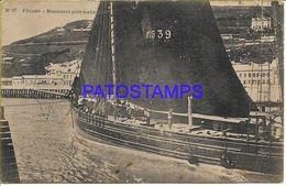 136438 FRANCE FECAMP VIEW SHIP BREAK POSTAL POSTCARD - Frankreich