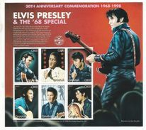 1998 Ghana  Elvis Music Complete Set Of 1 Sheet  Crease In Top Right Hand Corner MNH - Ghana (1957-...)