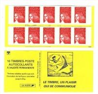Carnet Luquet YT 3419-C3d Avec Prédécoupe Inversée . Rare , Voir Le Scan . Cote YT : 80 € , Maury N° 531 I G  : 70 € . - Varieties: Booklets