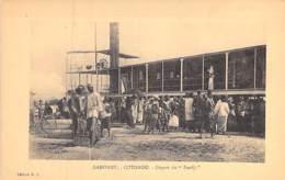 """AFRIQUE NOIRE - DAHOMEY (actuel MALI) COTONOU : Départ Du Bateau """" LE FAADJI """" CPA - Black Africa - Dahomey"""