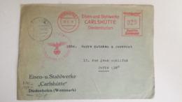 ENVELOPPE 1944 - DIEDENHOFEN 1 - Deutsche Reichspost - Eisen - Und Stahlwerke CARLSHÜTTE Diedenhofen - Censure - Marcofilie (Brieven)