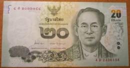 THAILAND 20 BAHT 2013   P-118  XF+AUNC - Tailandia